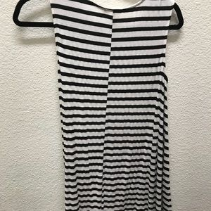 Black and white stripe dress from cotton island
